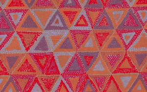 Brandon Mably Beaded Tents Fabric - Driftwood