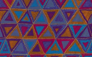 Brandon Mably Beaded Tents Fabric - Dusk