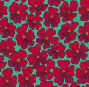 Kaffe Fassett Violets Fabric - Red