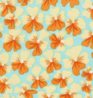 Kaffe Fassett Violets Fabric - Yellow