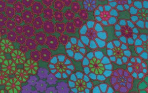 Kaffe Fassett Tile Flowers Fabric - Green