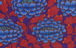 Kaffe Fassett Frilly Fabric - Blue
