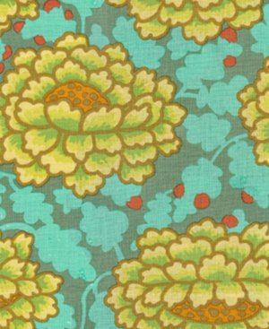 Kaffe Fassett Frilly Fabric - Green