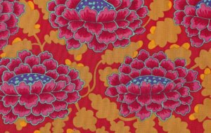 Kaffe Fassett Frilly Fabric - Red