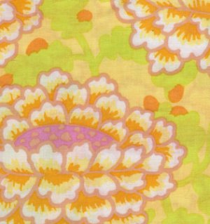 Kaffe Fassett Frilly Fabric - Yellow