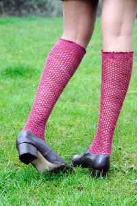 Malabrigo Lace Hex Mesh Stockings Kit - Socks