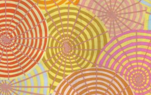 Kaffe Fassett Parasols Fabric - Yellow