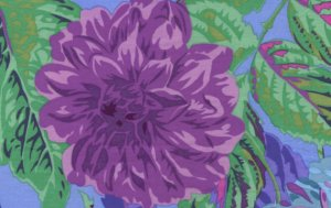 Philip Jacobs Pom Pom Dahlias Fabric - Purple