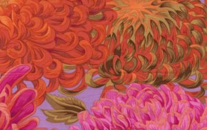 Philip Jacobs Japanese Chrysanthemum Fabric
