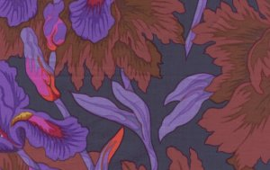 Philip Jacobs Iris and Peony Fabric
