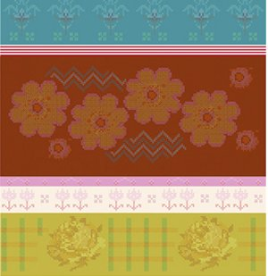 Anna Maria Horner Loulouthi Needleworks Fabric - Crossing Paths - Tumeric