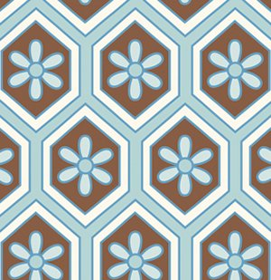 Dena Designs London Fabric - Lindsey - Blue