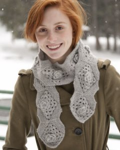 Classic Elite Fresco Snowflake Scarf Kit - Scarf and Shawls