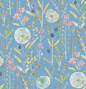 Dena Designs London Fabric - Somerset - Blue