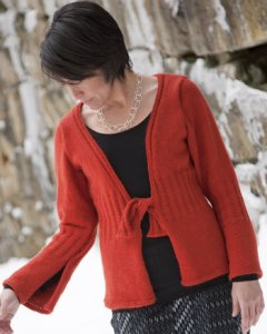 Classic Elite Fresco Snowfall Cardigan Kit - Women's Cardigans