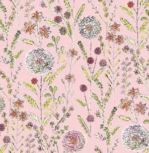 Dena Designs London Fabric - Somerset - Pink