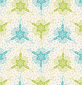 Anna Maria Horner Loulouthi Flannel Fabric - Triflora - Ocean