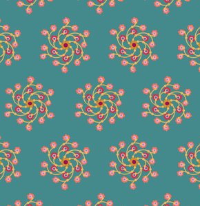 Anna Maria Horner Loulouthi Flannel Fabric - Flower Go Round - Maiden