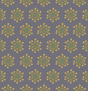 Anna Maria Horner Loulouthi Flannel Fabric - Flower Go Round - Twilight
