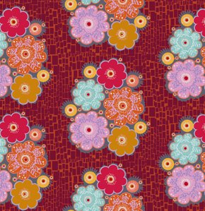 Anna Maria Horner Loulouthi Flannel Fabric - Jewelry - Ruby