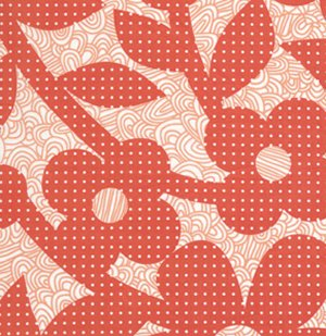 Erin McMorris Weekends Laminate Fabric - Dots and Loops - Red