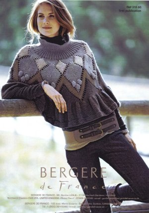 Bergere de France Patterns - Poncho Or Skirt Pattern