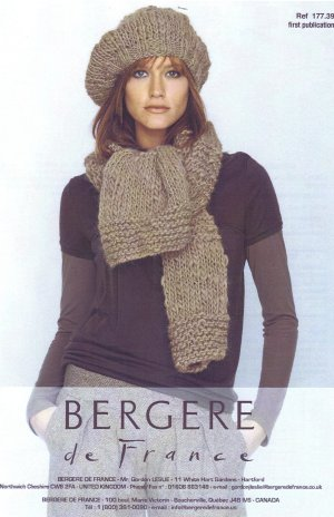 Bergere de France Patterns - Scarf and Beret Pattern