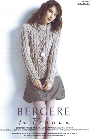 Bergere de France Patterns - Portrait-Neck Sweater Pattern