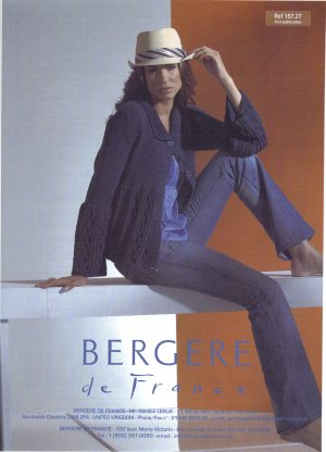 Bergere de France Patterns - Trapeze Line Jacket (Cabled) Pattern