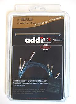 "Addi Click Cords Needles - Booster Pack - 1 16"", 20"", 24"", 32"", 40"" Cords Needles"
