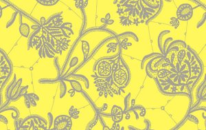 Amy Butler Lark Fabric - Souvenir - Lemon
