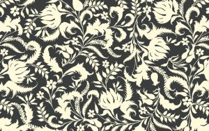 Amy Butler Lark Fabric - Ivy Bloom - Cinder
