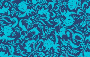 Amy Butler Lark Fabric - Ivy Bloom - Cobalt