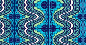 Amy Butler Lark Fabric - Gypsy - Cobalt