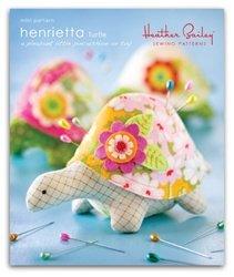 Heather Bailey Sewing Patterns - Henrietta Turtle Pincushion Pattern