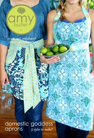 Amy Butler Sewing Patterns - Domestic Goddess Aprons Pattern