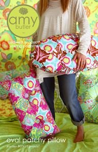 Amy Butler Sewing Patterns - Oval Patchy Pillow Pattern