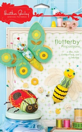 Heather Bailey Sewing Patterns - Flutterby Pincushions Pattern