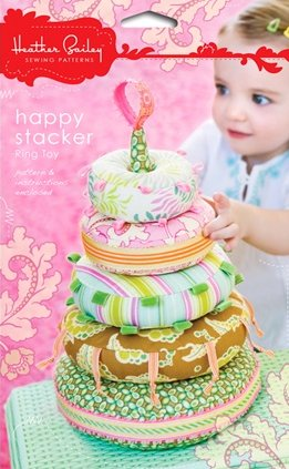 Heather Bailey Sewing Patterns - Happy Stacker Ring Toy Pattern