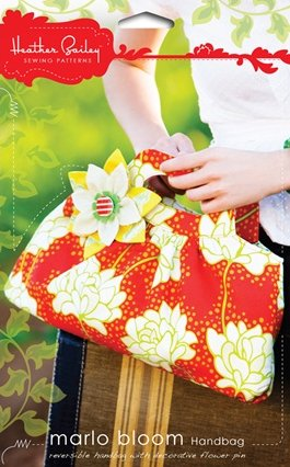 Heather Bailey Sewing Patterns - Marlo Bloom Handbag Pattern