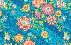 Amy Butler Lark Fabric - Heirloom - Blue Sky