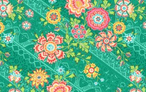 Amy Butler Lark Fabric - Heirloom - Jade