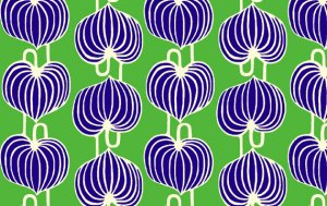 Amy Butler Lark Fabric - Chinese Lanterns - Grass