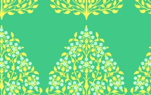 Amy Butler Lark Sateen Fabric - Henna Trees - Grass
