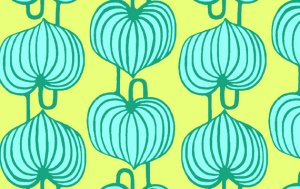 Amy Butler Lark Sateen Fabric - Chinese Lanterns - Citrus