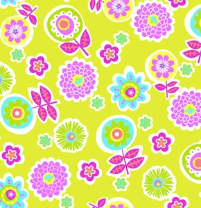 Erin McMorris Greenhouse Flannel Fabric - Backyard - Citron
