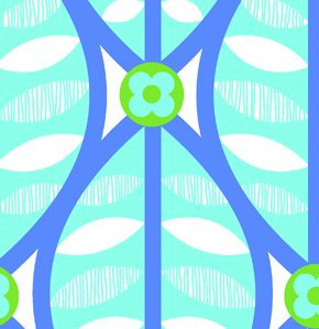 Erin McMorris Greenhouse Flannel Fabric - Buttonwood - Aqua