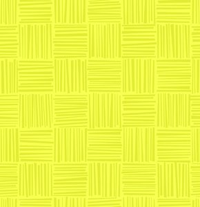 Erin McMorris Greenhouse Flannel Fabric - Basketweave - Citron