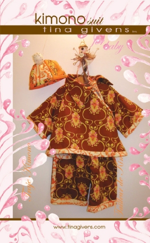 Tina Givens Sewing Patterns - Kimono Suit for Baby (Kimono Kid) Pattern