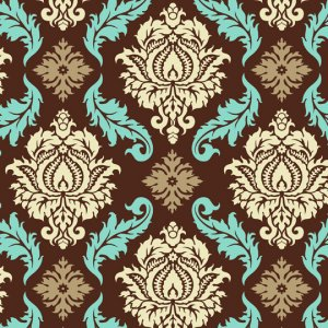 Joel Dewberry Aviary 2 Fabric - Damask - Bark